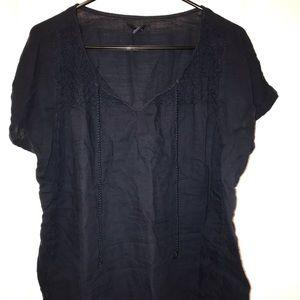 GAP Navy Blue Boho Shirt